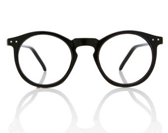 OMalley RX Round Black Glasses X American Deadstock Vintage Glasses