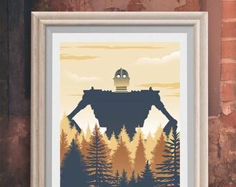 The Iron Giant Movie Poster - print memorabilia- print home wall decor