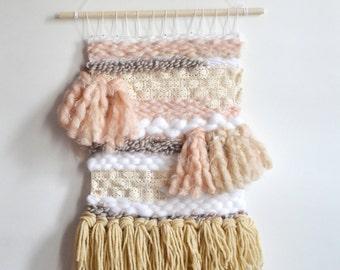 Baby Girl Art, Wall Hanging, Pink Wall Weaving, Bohemian Home Decor, Girls Nursery Wall Art, Fiber Art, Boho Homes, Wall Tapestry, Woven Art