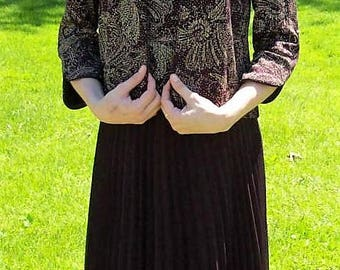 Vintage Ladies Plum 2 Piece Sleeveless Formal Dress w/ Matching Jacket by Alex Evenings Size 6 Only 25 USD