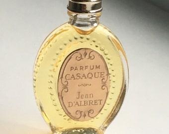Vintage Jean D'Albret CASAQUE Pure Perfume Parfum Micro Mini in Case with Original Box, Never Used