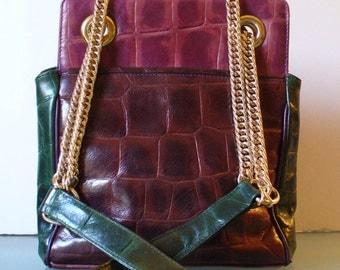 High Fashion Canada Faux Alligator Shoulder Bag