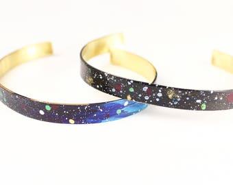 Thin Universe Cuff Bracelet