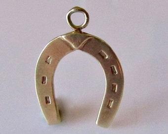 9ct Gold Good Luck Horseshoe Charm or Pendant