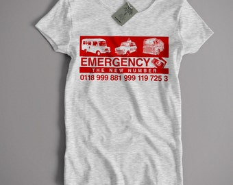 Inspired by the IT Crowd T Shirt - The New Emergency Number Cult TV Comedy Inspired