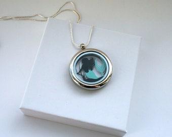The Little Mermaid Papercut Pendant • Fairytale Necklace • Paper Cut Jewellery