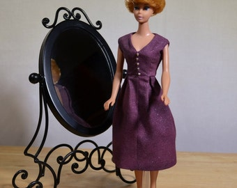Barbie Retro Purple Dress 50s 60s Style