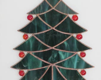 Stained Glass Christmas Tree Suncatcher - Price Includes Shipping