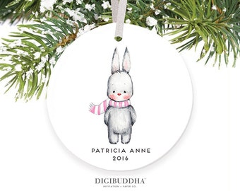 Baby Girl First Christmas Ornament Christmas Girl Baby Ornament Baby Bunny Ornament Baby's First Christmas Baby's 1st Christmas Ornament