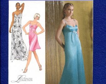 Simplicity 2640 Elegant Empire Waist Evening Dress Size 6 to 14 UNCUT