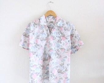 plus size botanical camp shirt
