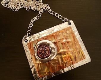 Copper Necklace Modern Design