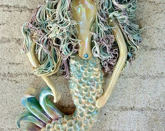 Rainbow Mermaid Wall Sculpture