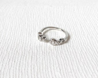 Sierra - Silver Stacking Ring, White Topaz Ring, Gifts for her