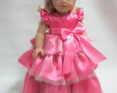 18 inch American Girl Doll Clothes - Fancy Pink Ball Gown  Perfect for Valentine's Day!