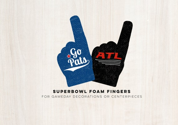 Super Bowl Foam Finger Decals - Gameday Football Party - INSTANT DOWNLOAD