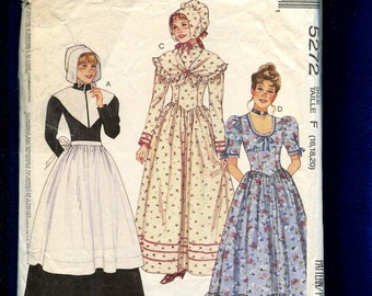 McCall's 5272 Frontier Woman Ruffled Tier Dresses Sizes 16..18..20