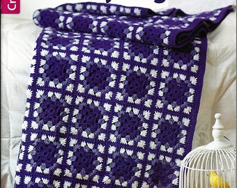 Square by Square Grannny Afghans Crochet Pattern Book  Leisure Arts 5527