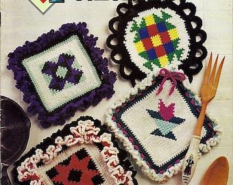 Quilt Potholders Crochet Pattern Book Annie's Attic 87P81
