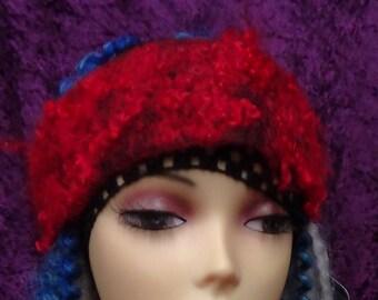 Felted hatband, Cute, summer, hatband, hand made, in USA, Organic, Fairy hatband, wearable art, costume art, fantasywhimsical hatband, gift