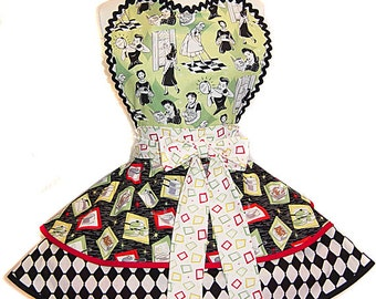 "NEW 2017 ""Retro Housewife"" Apron; A Tie Me Up Aprons Exclusive!"