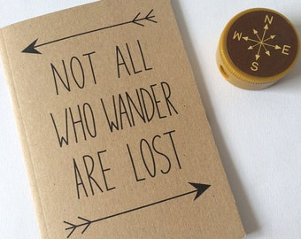 Not All Who Wander Are Lost A6 Plain Pocket Notebook
