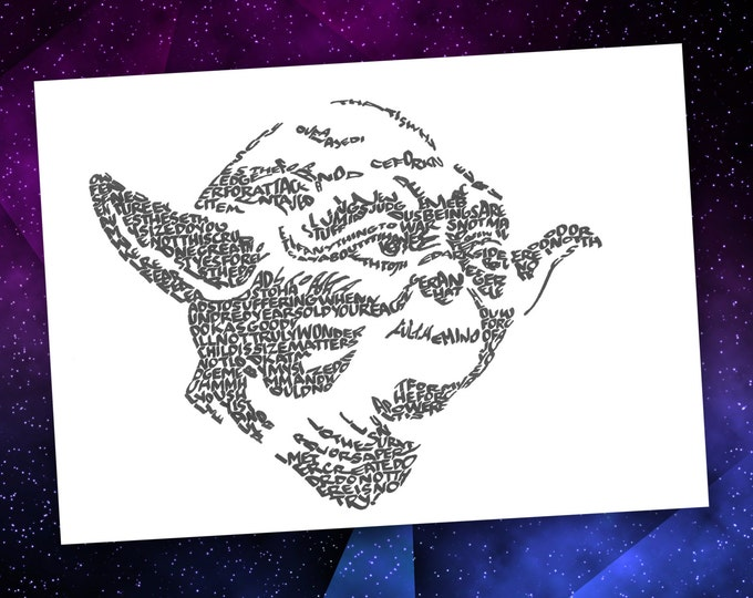 Yoda -  A Limited Edition Print of a Hand Lettered Image