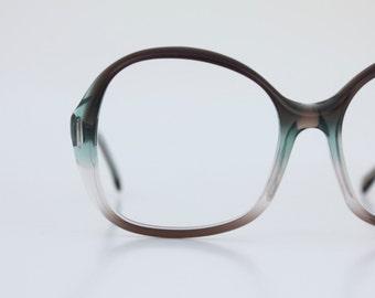 Vintage 70's Smokey Jade Eyeglass Frames