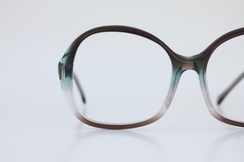 Jade Green Eyeglass Frames : Vintage 70s Smokey Jade Eyeglass Frames