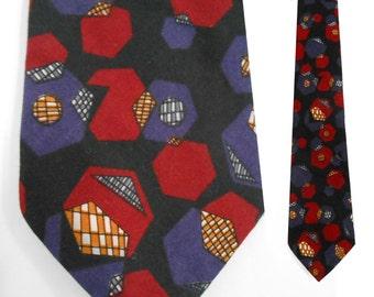 Cubism/ Cool Ties/ Funny Ties/ Science Tie/ Geek Tie/ 90s Club Kid/ Novelty Tie/ Optical Illusion/ Teacher Tie/ Math Tie/ Engineer Tie/