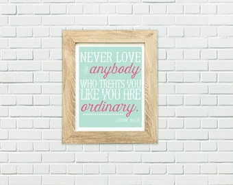 Oscar Wilde quote, Bibliophile Poster, Gift For Bookworm, Literary Quotes, Literary Posters, I Like Big Books