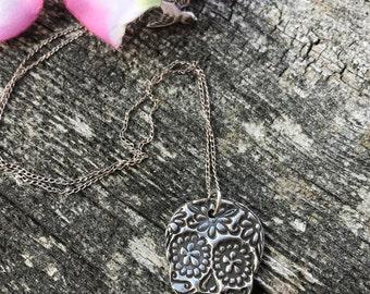 Flower Sugar Skull Necklace