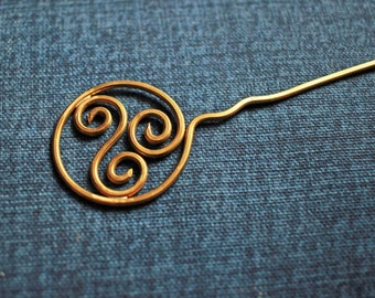 Wire Wrapped Celtic Hair Pin, Hair Fork