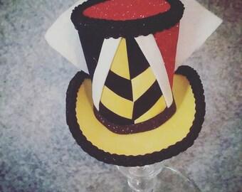 Queen of Hearts mini top hat costume piece