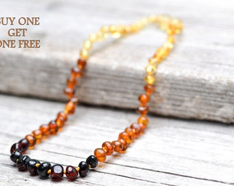 SPECIAL OFFER!!!! Buy one get one FREE. Baltic amber teething necklace for babies