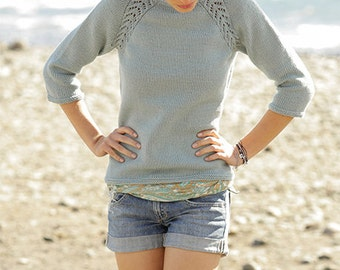 Knitted Jumper for Women, Hand Knit Sweater. Merino Wool Jumper