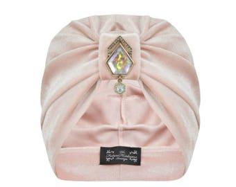 Arella Iridescent Marble Turban