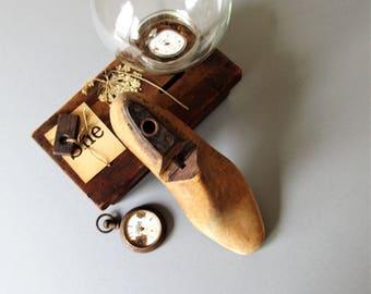 Vintage shoe form, cobblers shoe form, mid century decor, industrial decor