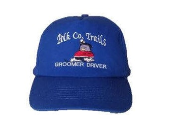 Vintage Polk Co. Trails Groomer Driver snapback snap back style hat - Trucker Hat - One size fits all