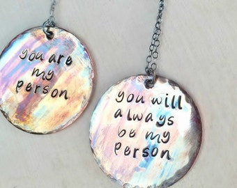 Youre My Person Necklace, BFF Necklace, Bride Necklace, Bridesmaids Jewelry, Valentines Day Gift