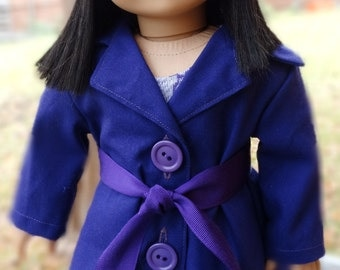 """18"""" Doll Clothes 1960's / 1970's Coat Set Fits American Girl Julie, Ivy, Melody"""