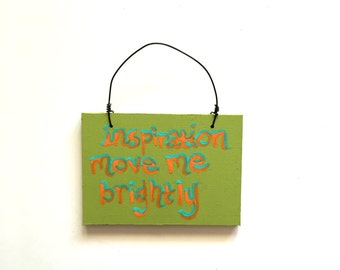 Grateful Dead Christmas Ornament - Terrapin Station Song Lyric Art - Small Sign - Inspiration Move Me Brightly - Decoration - Holiday