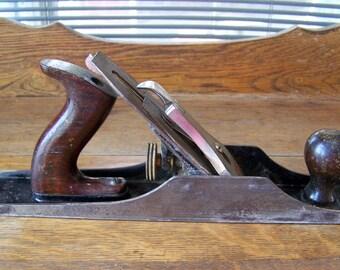 Antique Stanley Planer.Stanley Bedrock Planer #605.Vintage Carpentry Tool.Vintage Wood Plane.Woodworking Tool.Antique Wooden Tool.Workshop.