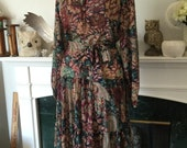 70s Gypsy Floral Day Dress