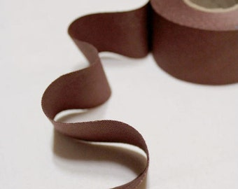 4 cm Oxford Cotton Bias Tape in Autumn Brown - 12 yards - By the Roll - 91231