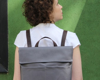 Grey Backpack, Unique backpacks, Backpack bag, Military Rucksack, Backpacks, Laptop bag women, Work backpack
