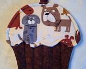 Dog Lover Cupcake Shape Potholder