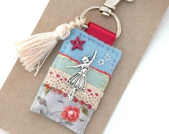 ballerina bag charm, dance accessories, ballet charm, dance bag tag, love to dance, performing arts, gift for dancer, ballet gifts, UK shop