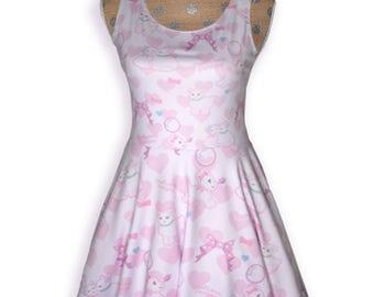 Kawaii Fairy Kei Dress Lamb Dress Pastel Lamb Danilamb Sheep Bows Bubbles Hearts Cute Lamb Size XS Through 3XL*Made 2 Order*