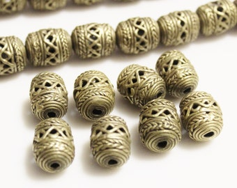 Brass Spacers From Africa, Lost Wax Beads, Ethnic Jewelry Supplies (ac197)